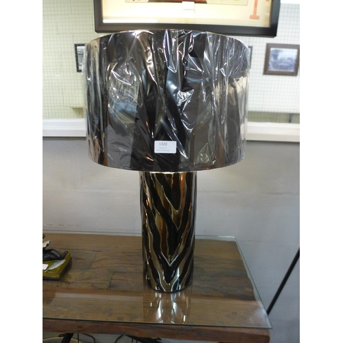 1323 - A Jaspa table lamp with black velvet shade, 62cms (2070552)   #