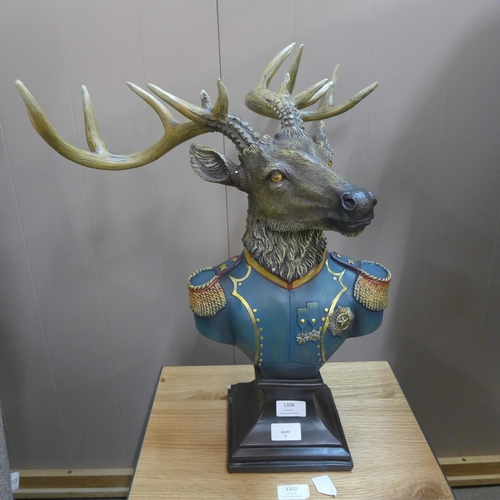 1324 - A large stag gentry bust (BD13547)   #