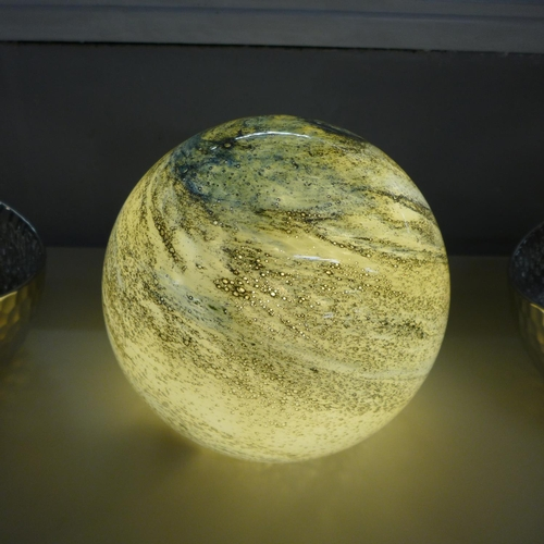 1347 - A hand blown sand and sea lamp (GL00735)  #