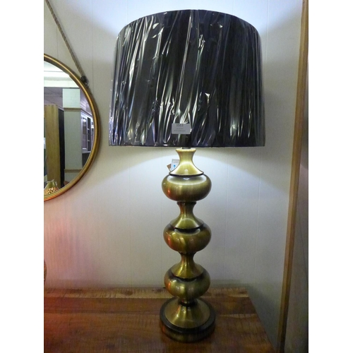 1351 - A Santiago bronze lamp with black velvet shade, height 92cm (2070345)   #