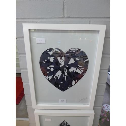 1354 - A Summer Thornton framed print, Heart Diamond, 30 x 40 (PFMET0004510)   #