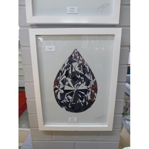 1355 - A Summer Thornton framed print, Teardrop Diamond, 30 x 40 (PFMET0004610)   #