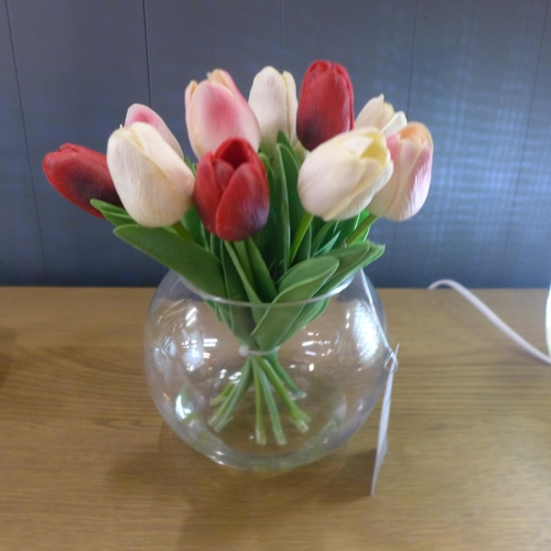 1391 - Mixed tulips in a glass bowl (59415508)   #