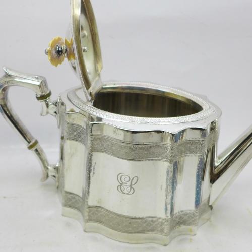 603 - A four piece Viners of Sheffield Alpha plate tea service and an EPBM tea service
