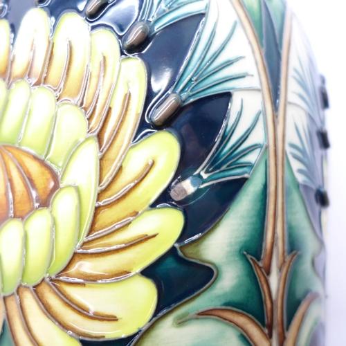 604 - A Moorcroft Dent De Lion vase - design trial, 37cm