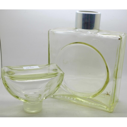 606 - A 1970's Pierre Cardin shop display perfume with glass stopper, 31cm