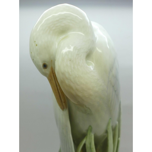 615 - A Royal Copenhagen stork, 29cm