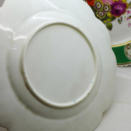 617 - Three Victorian hand painted plates
