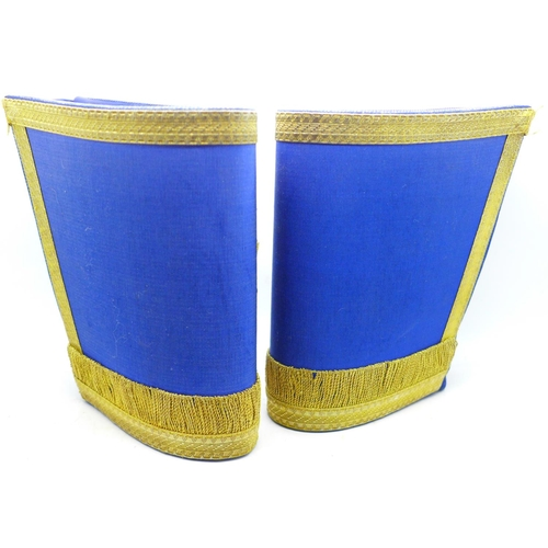 623 - A pair of military brassard armlets, one marked Toye & Co. Ltd