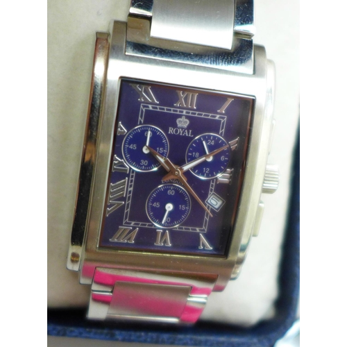630 - A Royal Chronograph wristwatch, boxed and other wristwatches