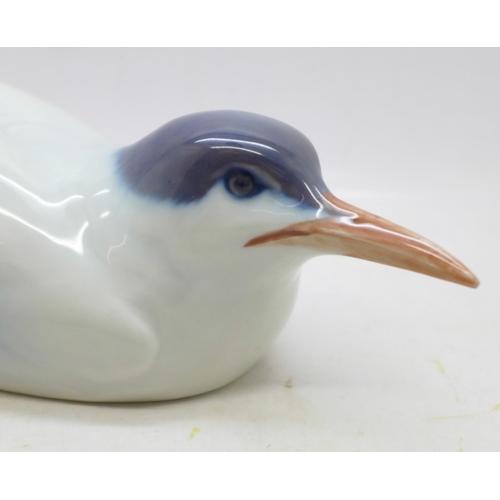 633 - A Royal Copenhagen Tern squatting, 27cm