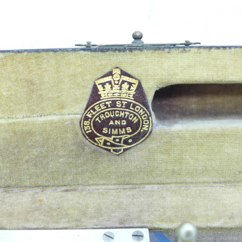 646 - A precision drawing instrument by Troust?? Simms