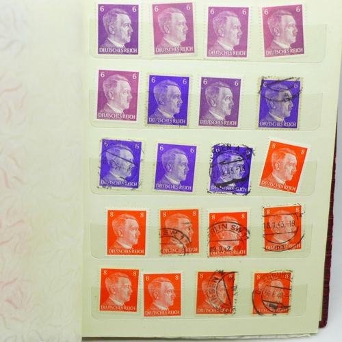 648 - A stamp album, Third Reich, over 220 stamps