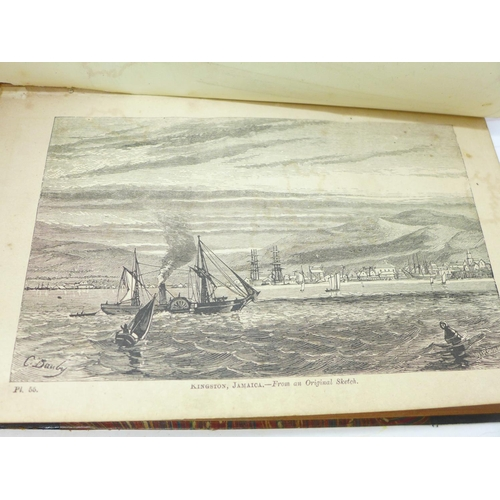 654 - Two volumes, Beeton's Dictionary of Geography, printed by Savill, Edwards & Co., circa 1869, with ma...