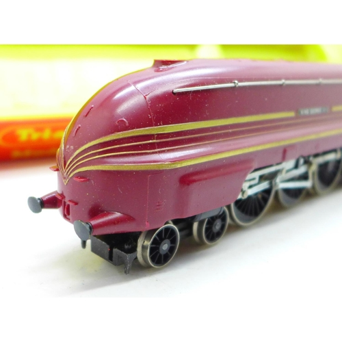 656 - Tri-ang Hornby No. R871 LMS 7P 4-6-2 maroon King George VI loco and tender