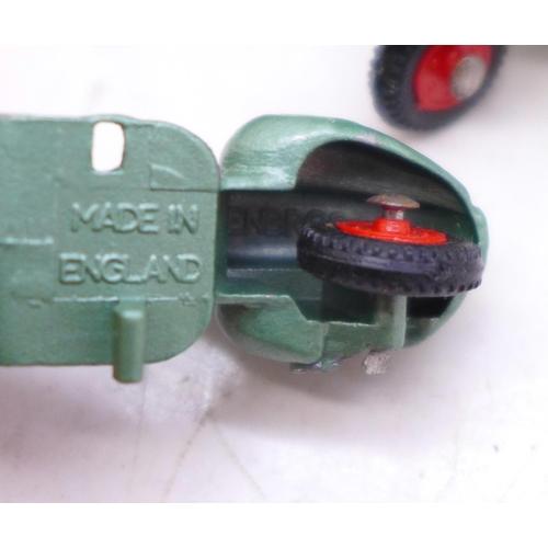 659 - Ten Benbros Mighty Midgets 15 Vespa Scooters, metallic green with red hubs