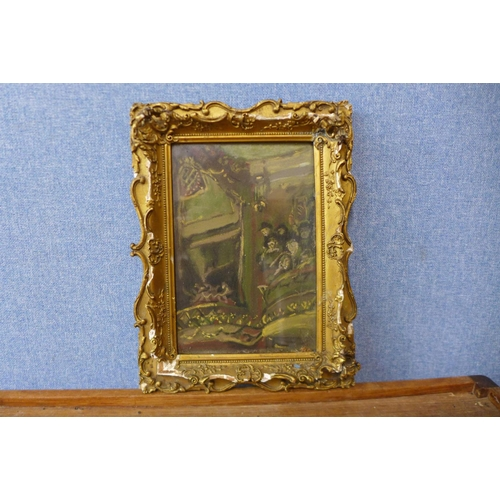13 - Italian School (late 19th/early 20th Century), figures at the opera, pastel, framed