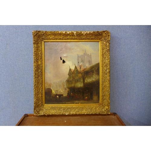 15 - D. Hodgson, St. Lawrence Street, Norwich, oil on canvas, 45 x 40cms, framed, a/f