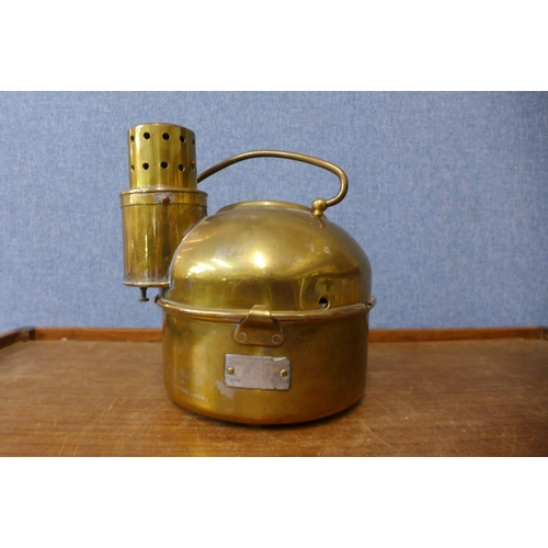27 - A brass cased ships compass
