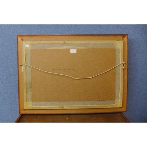3 - William Burns (1923 - 2010), Elms In The Snow, oil on board, 38 x 59cms, framed