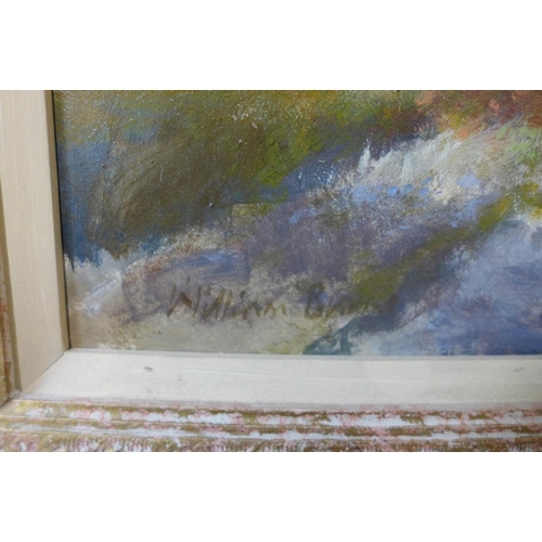 4 - William Burns (1923 - 2010),  two landscapes, oil on board, 40 x 60cms and 39 x 55cms, framed