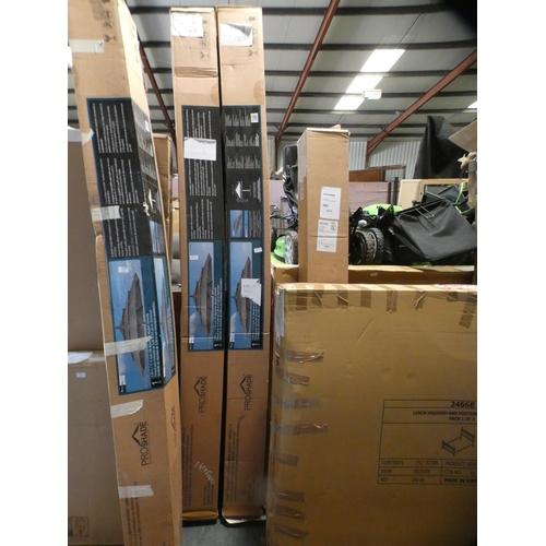3012 - Activa 11' Aluminium Umbrella With Wood Finish, RRP £199.91 + VAT    (226-63) * This lot is subject ...