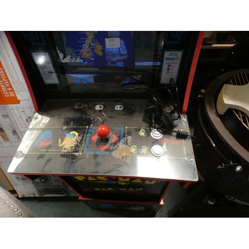 3023 - Pacman Edition Arcade1Up Arcade Game, RRP £324.90 + VAT (226-32) * This lot is subject to VAT