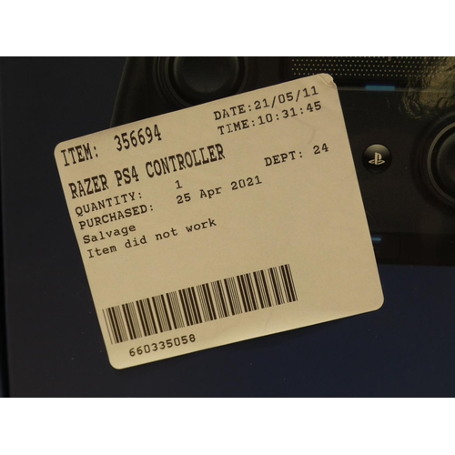 3028 - Razer Ps4 Controller - Raiju tournament edition   (227-361) * This lot is subject to VAT