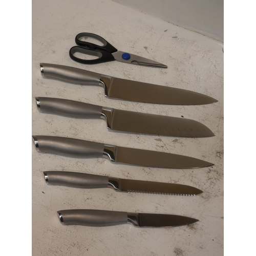 3030 - Henckels 7Pc Knive Block - self sharp  (227-274) * This lot is subject to VAT