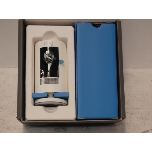 3031 - Ring Stick-Up battery Camera 2Pk BAT WHT 8SC1S9-WEU0, RRP £124.99 + vat (227-258) * This lot is subj...