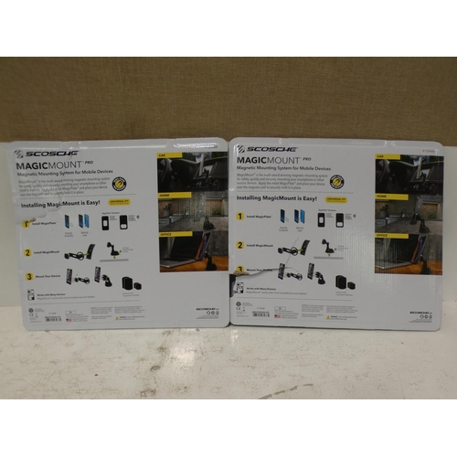 3034 - Two Scosche Magicmount Pro Tablet Mounts packs  (227-283, 284) * This lot is subject to VAT