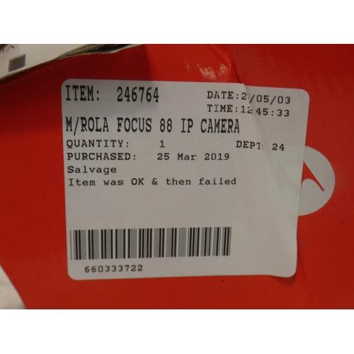 3039 - MotoRola Focus 88 Ip security camera (227-178) * This lot is subject to VAT