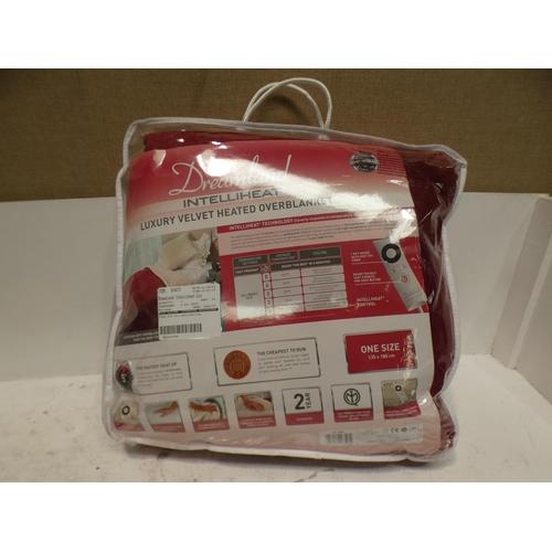 3065 - Velvet Heated Blanket Red 135 X 180 CM         (227-183) * This lot is subject to VAT