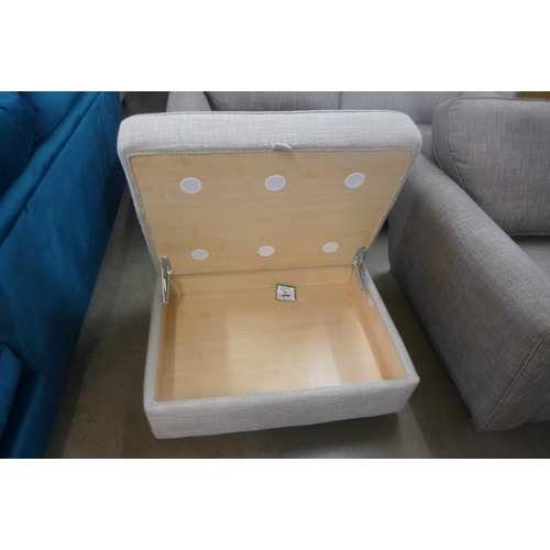 1308 - A Next Solene taupe large storage footstool