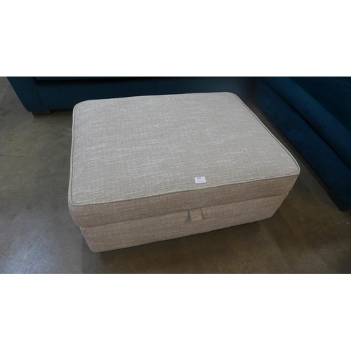 1309 - A Next Solene taupe large storage footstool