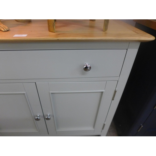 1328 - A Bergen grey painted oak two door one drawer mini sideboard (NTP-SMS-G)  *This lot is subject to VA...
