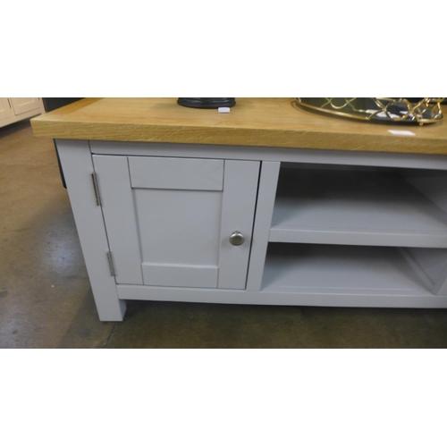 1340 - A Hampshire grey painted oak TV unit (KEL P32-73)   *This lot is subject to VAT