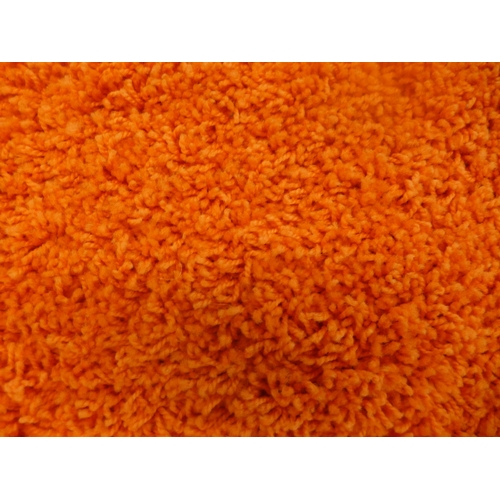 1353 - An orange Oxford shag pile rug, 160cm x 230cm