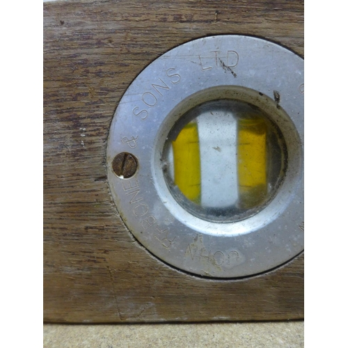 2004 - Vintage wooden spirit level by John Rabone and Sons of England