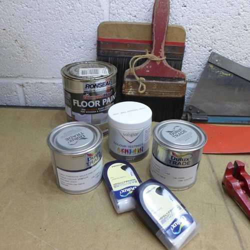2012 - 2 Boxes of assorted tools and paint