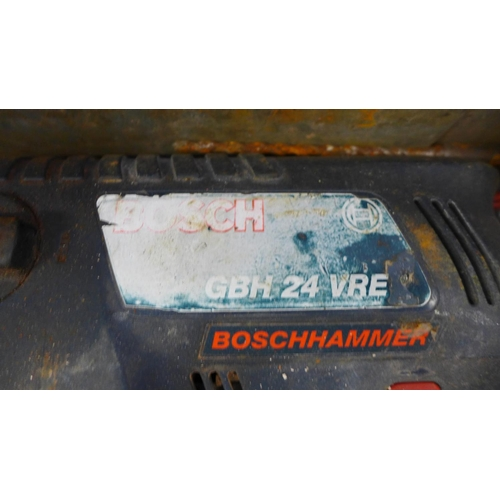 2016 - Bosch GBH 24 VRE 24v SDS hammer drill - in case (battery and charger)