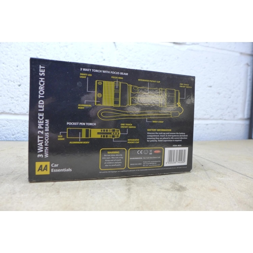 2034 - 10 x 3 Watt 2 piece LED torch sets by AA Car Essentials