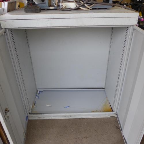 2056 - Milners vintage metal cabinet - no key