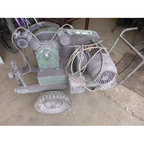 2057 - 240v Bremar compressor on wheeled frame