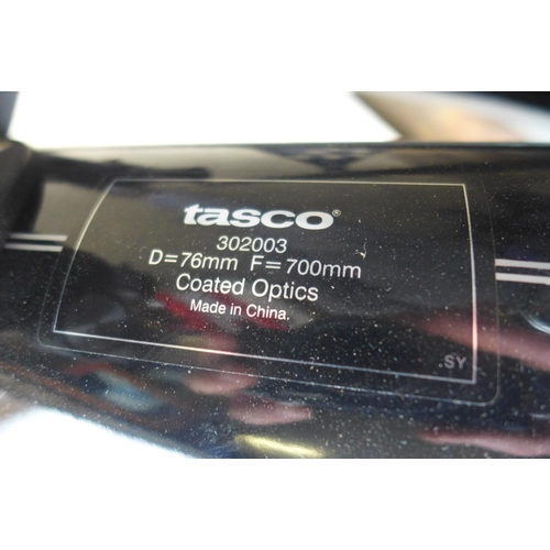 2058 - Tasco telescope 30273, 75 x 700m, instructions and set up booklet