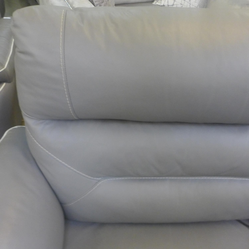 1540 - A Raffa grey leather electric reclining loveseat