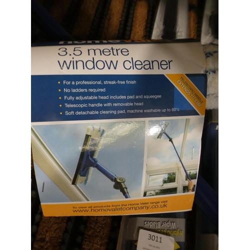 3011 - HV Telescopic Window Cleaner (3.5m), Two Michelin Stealth Wiper Blades (20
