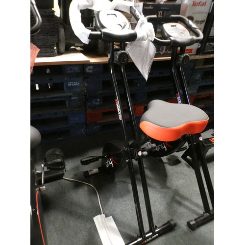3057 - Viavito Onyx foldable exercise bike 81L x 41W x 107H ( in use ) 33L x 41W x 136H ( folded ) *this lo...