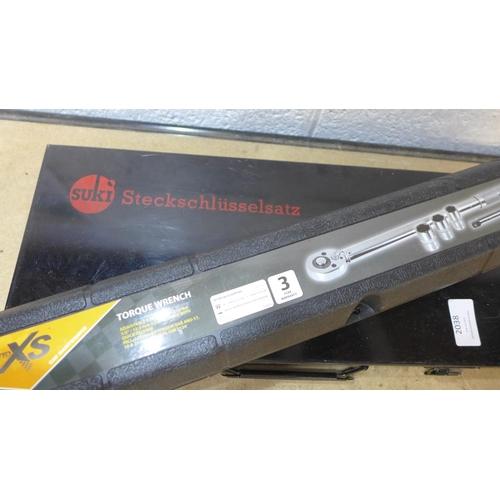 2038 - Auto X5 torque wrench with Suki socket set