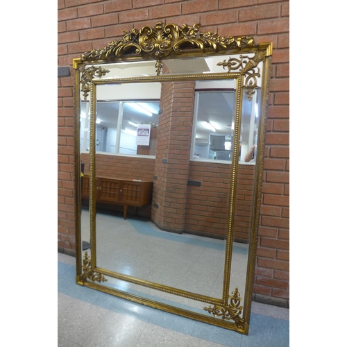 9 - A large French style gilt framed mirror with crest, 191 x 135cms   (M24238)   #